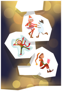 Vector Illustration With Cutouts And Decorations (editable Text)