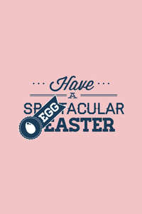 Vector Illustration With Easter And  (editable Text)