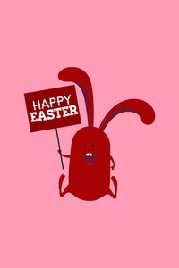 Vector Illustration With Easter Bunny And  (editable Text)