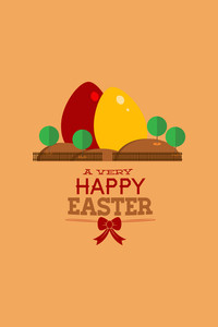 Vector Illustration With Eggs And  (editable Text)