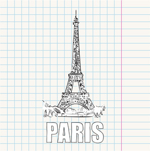 Vector Illustration With Eifel Tower.