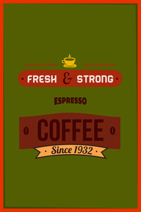 Vector Illustration With Expresso And Drinks (editable Text)