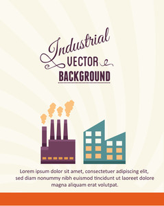 Vector Illustration With Factory (editable Text)