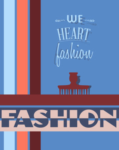 Vector Illustration With Fashion Elements (editable Text)