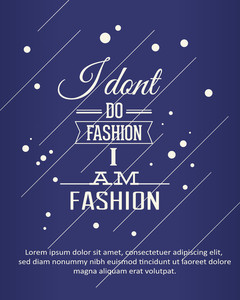 Vector Illustration With Fashion Typography (editable Text)