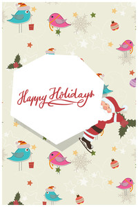 Vector Illustration With Frame And Decorations (editable Text)