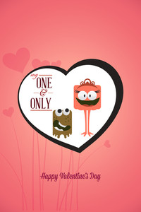Vector Illustration With Funny Characters And Love Elements (editable Text)