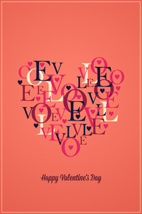 Vector Illustration With Heart And  (editable Text)