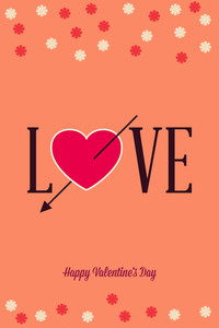 Vector Illustration With Heart And Love Elements (editable Text)