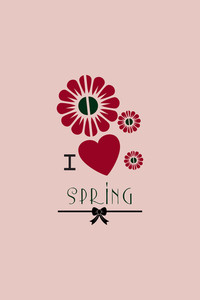 Vector Illustration With Heart Flower Spring And  (editable Text)