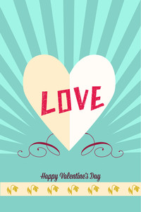 Vector Illustration With Heart Paper  And  (editable Text)