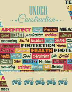 Vector Illustration With Industrial Typography Elements (editable Text)