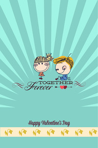 Vector Illustration With Kids Text And  (editable Text)