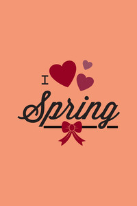 Vector Illustration With Love Spring And  (editable Text)