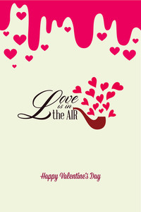 Vector Illustration With Pipe Heart And  (editable Text)