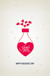 Vector Illustration With Potion Love Heart And  (editable Text)