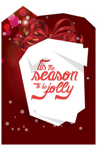Vector Illustration With Ribbon And Decorations (editable Text)