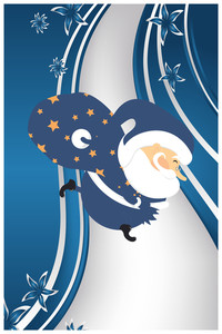 Vector Illustration With Santa And Decorations (editable Text)