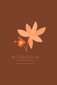 Vector Illustration With Spring Flower And  (editable Text)