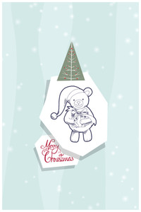 Vector Illustration With Teddybear And Decorations (editable Text)