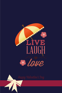 Vector Illustration With Text Umbrella And  (editable Text)