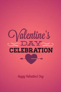Vector Illustration With Valentine Typo And Love Elements (editable Text)