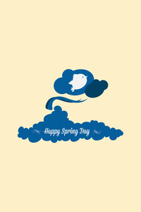Vector Illustration With Wind Cloud And  (editable Text)