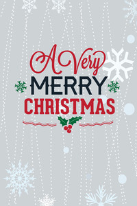 Vector Illustration With Winter Elements And Holiday Elements (editable Text)