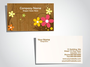 Vector Illustrtaion Of Business Card