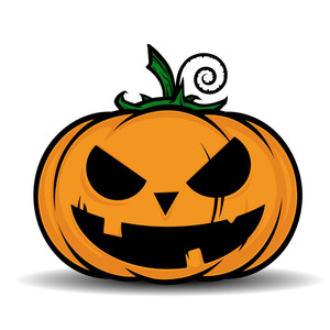 Vector Illustrtion Of Cartoon Halloween Pumpkin.