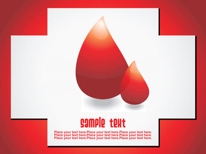 Vector Image Of Blood Drops