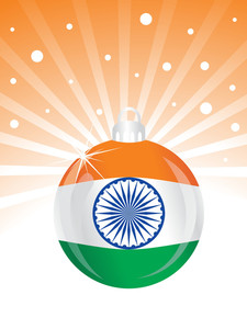 Vector Indian Flag In Ball