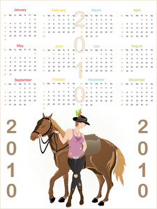 Vector Isolated Calender
