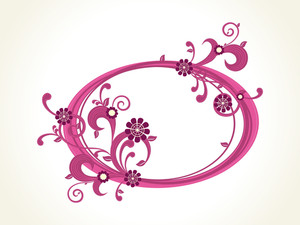 Vector Isolated Decorated Frame