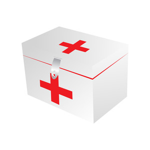 Vector Isolated First Aid Kit On Background