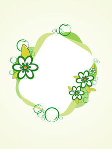 Vector Isolated Floral Decorated Frame