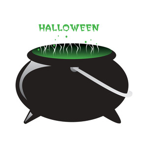 Vector Isolated Halloween Bucket