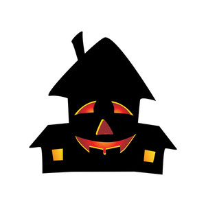 Vector Isolated Halloween House