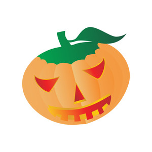 Vector Isolated Halloween Pumpkin
