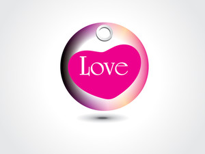 Vector Isolated Love Tag