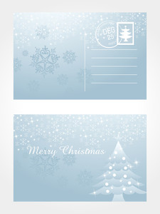 Vector Isolated Postcard For Xmas Day