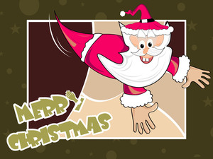 Vector Isolated Santa Claus