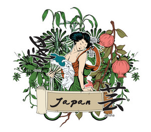 Vector Japanese Illustration With Geisha