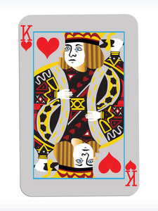 Vector King Of Heart On Abstract Playing Card Background2