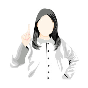 Vector Lady Doctor Silhouette