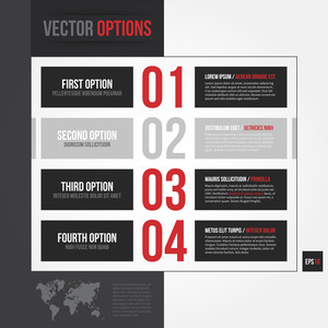 Vector Layout With 4 Different Options. Eps10.