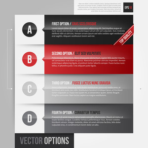 Vector Layout With 4 Horizontal Banners/options. Eps10.