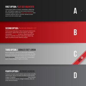 Vector Layout With Four Banners/options. Eps10.