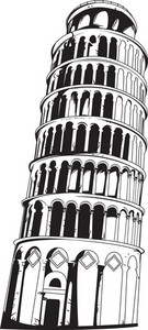 Vector Leaning Tower Of Pisa