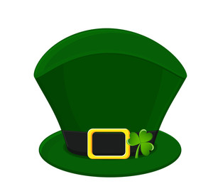 Vector Leprechaun Hat With Clover